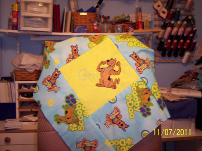 scooby doo embroidered pillow