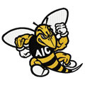 AIC Yellow Jackets logo embroidery design