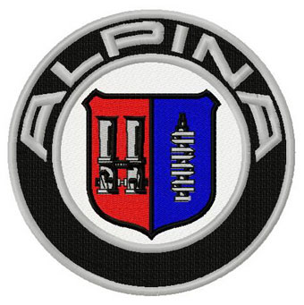 Alpina logo machine embroidery design