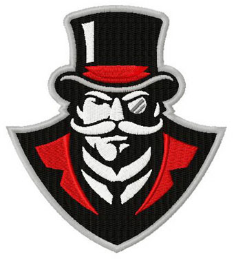Austin Peay logo 2 machine embroidery design