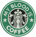 My blood is coffee machine embroidery design