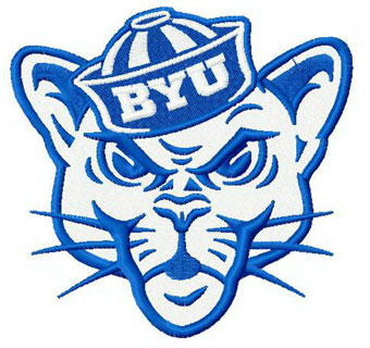 Brigham Young University mascot machine embroidery design