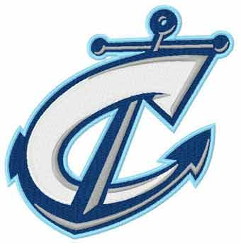 Columbus Clippers logo embroidery design
