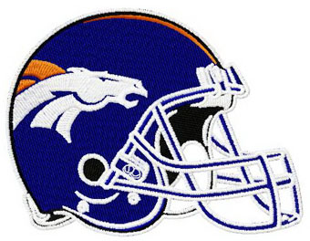 Denver Broncos helmet machine embroidery design