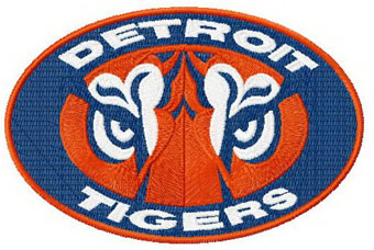 Detroit tigers logo 2 machine embroidery design