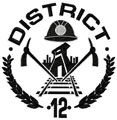 District 12 Hunger games logo machine embroidery design
