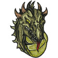 Dragon 4 machine embroidery design