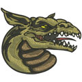 Dragon 7 machine embroidery design