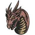 Dragon 8 machine embroidery design