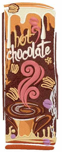 Hot chocolate 1 embroidery design