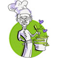 Jolly chef embroidery design