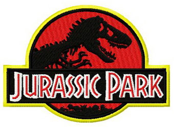 Jurassic Park world machine embroidery design