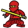 Lego Kai Red Ninja machine embroidery design