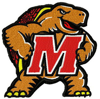Maryland Terrapins 2 logo machine embroidery design
