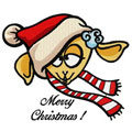 Merry Christmas sheep machine embroidery design