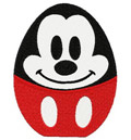 Mickey Mouse Egg machine embroidery design