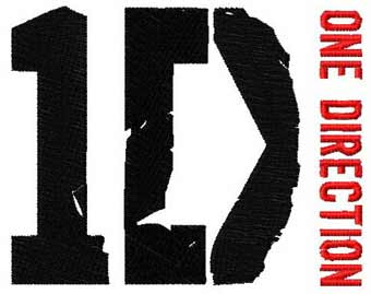 One Direction logo 2 machine embroidery design
