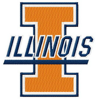 Illinois University logo machine embroidery design