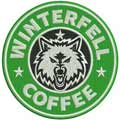 Winterfell coffee badge embroidery design