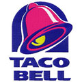 Taco Bell logo machine embroidery design