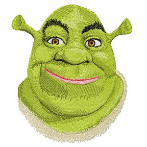Shrek machine embroidery design