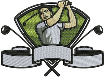 Golfer 2 embroidery design