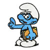 Clever Smurf with book
