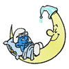 Smurf sleep on moon