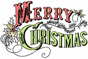 Merry Christmas vignette machine embroidery design