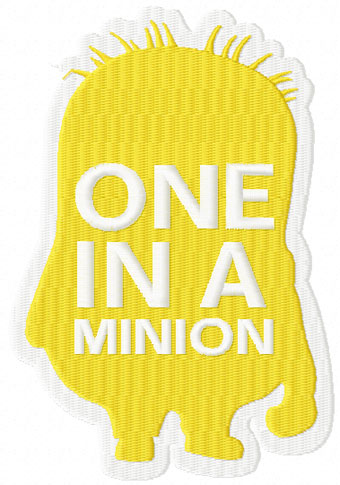 One in Minion machine embroidery design