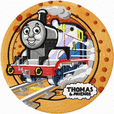 Thomas the Tank Engine machine embroidery design