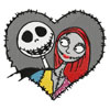 Jack and Sally machine embroidery design