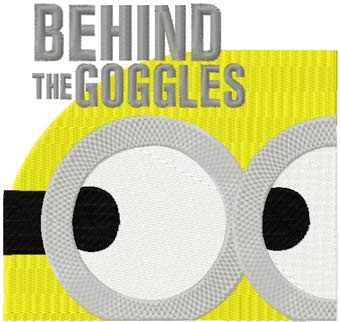 Minion: behind the goggles machine embroidery design