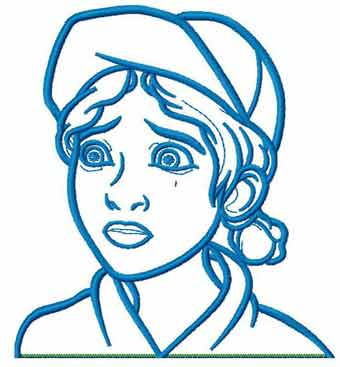 Walking Dead Clementine embroidery design