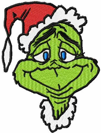 Christmas Grinch machine embroidery design