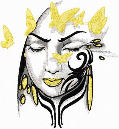 Tribal Lady Free Machine Embroidery Design News Free Machine