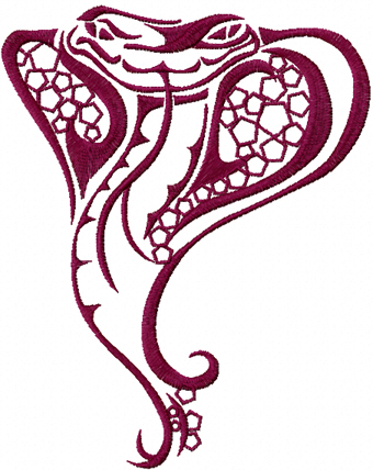 вышитый элемент Змейка змея