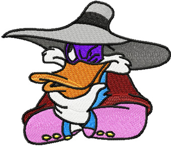 Darkwing Duck machine embroidery design