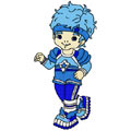 Buddy Blue machine embroidery design