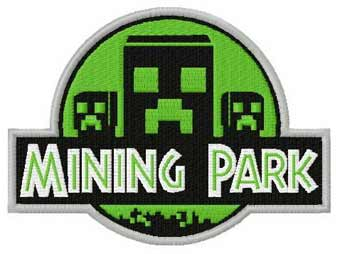 Minecraft park machine embroidery design