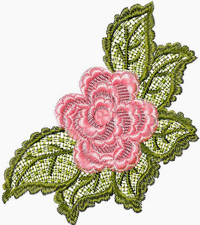 free lace flower embroidery