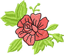 free small rose flowers embroidery