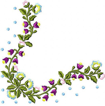 Flowers Wreath Free Embroidery Design News Free Machine