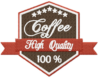 Coffee Label High Quality machine embroidery design