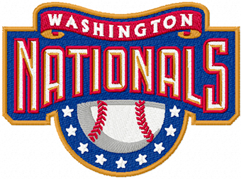 Washington Nationals logo machine embroidery design