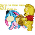 Baby Pooh and Eeyore with honey