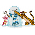 Christmas Tiger and Piglet