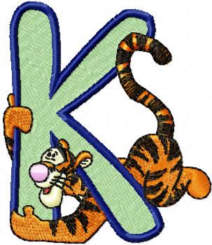 K Alphabet Letter Tiger Alphabet Letter K