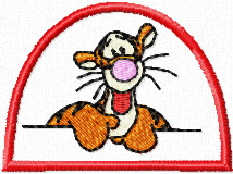 Tiger very friendly machine embroidery design