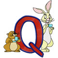 Rabbit Alphabet Letter Q